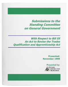 OCS_Submissions-to-the-Standing-Committee-Bill55_NOVEMBER 1998_cvr