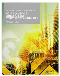 OCS_Survey-of-Ont-ICI-Constr-Industry_MARCH 2011_cvr