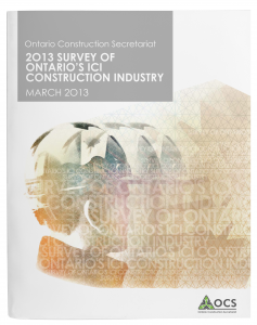 OCS Survey of Ont ICI Construction industry MARCH 2013