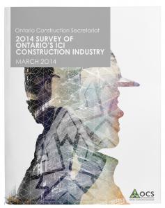 OCS_Survey-of-Ont-ICI-Constr-Industry_MARCH 2014_cvr