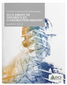 OCS Survey of Ont ICI Construction Industry MARCH 2015